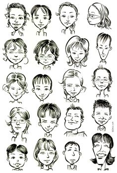 Use this resource to learn how to draw cartoon faces