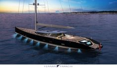50m Sloop concept by Marco Ferrari & Alberto Franchi
