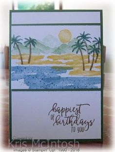 I loved the Waterfront stamp set when I first saw it in the Occasions Catalogue. It is so simple to create wonderful scenes to use on all kinds of cards. Today I am going to share with you the fi…