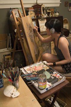 """""""La música y la pintura son lo mismo, usted sólo tiene que tener el órgano para la detección de las mismas."""" ~Franz Marc"""