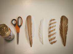 Spray Paint Feathers gold or any colour for decorations, dream catchers, head pieces etc