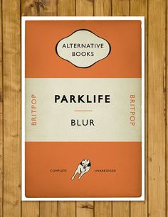 Britpop - Blur - Parklife - Penguin Alternative Book Cover Poster (UK and US sizes available) by headfuzzbygrimboid on Etsy
