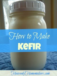 This is a really fun way to get great nutrients into your family! You'll be surprised at how easy it is to make yogurt, kefir, and buttermilk. I encourage you to begin the simple routine of making t (Cheese Making Coconut Milk) Healthy Sour Cream, Make Sour Cream, Kefir How To Make, How To Make Cheese, Making Kefir, Kefir Yogurt, Kefir Milk, Cultured Buttermilk, How To Make Buttermilk