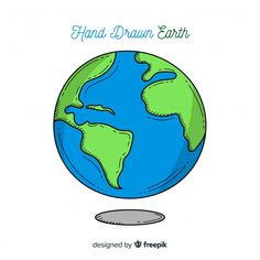 Lovely planet earth with hand drawn style , Space Drawings, Easy Drawings, Burning Man Sculpture, Christmas Games For Kids, Earth Design, Kids Class, Science For Kids, Neymar, Cartoon Drawings