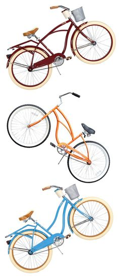 I have always wanted these cute beach bikes