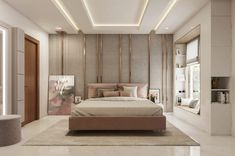 Here you will find photos of interior design ideas. Get inspired! Indian Bedroom Design, Luxury Bedroom Design, Bedroom Furniture Design, Home Room Design, Master Bedroom Design, Luxury Interior, Interior Design, Bedroom Ideas, House Design
