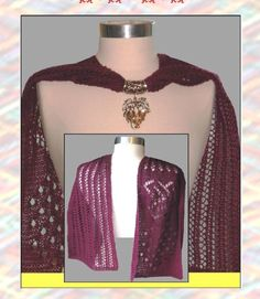 Free Mary Burwell pattern featuring SWTC Yin and gorgeous Scarf Pendants  http://www.yarnzone.com/free-pattern-mary-burwells-barbara-scarf/