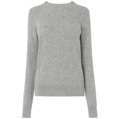 Carie Grey Cashmere Jumper (67.705 HUF) found on Polyvore featuring women's fashion, tops, sweaters, knitwear sweater, grey christmas sweater, grey cashmere sweater, grey long sleeve sweater and gray sweater