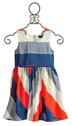 Hannah Banana Tween Color Block Belted Dress