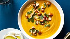 This silky red lentil soup both soothes and satisfies with heat and generous amounts of vegetables. Get the recipe for Red Lentil Squash Soup With Quick Soup Recipes, Quick And Easy Soup, Vegetable Soup Recipes, Veggie Food, Korma, Biryani, Squash Soup, Butternut Squash, Red Lentil Soup