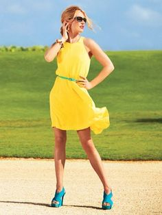 yellow dress accessories ad