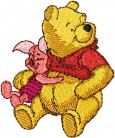 Pooh and Piglet machine embroidery design. Machine embroidery design. www.embroideres.com