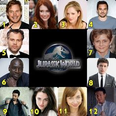 The Cast of Jurassic World