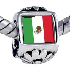 Pugster Bead Mexico Flag Beads Fits Pandora Bracelet Pugster. $12.49. Bead Size (mm): 7.46mm*8.09mm*12.09mm. Metal: base metal. Weight (gram): 3.75. Note: Snake chain is not included
