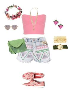 Watermelon by brtnynchl on Polyvore featuring Miss Selfridge, Boohoo, Keds, Tory Burch, Charlotte Russe, Vince Camuto, Topshop and Wildfox