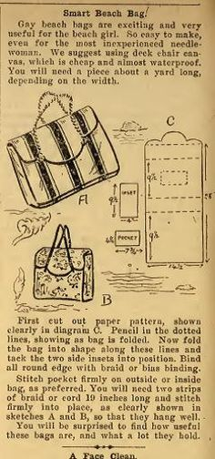 Little Grey Bungalow: Sewing - a 1949 Beach Bag