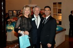 Steven Cuoco and Doctor Trevor Hawkins (center), with his gorgeous wife attending Breakfast at Tiffany's Gala in Santa Fe, New Mexico. #emagemag #stevencuoco #bravotv
