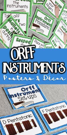 awesome Orff posters for every music classroom - these are the best music education tool. Orff Activities, Music Education Games, Physical Education, Music Bulletin Boards, Elementary Music, Elementary Library, Elementary Education, Piano Teaching, Music Lessons