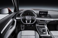 The new 2018 Audi this time better than ever. Premiered last year at the Motor Show in Paris, as a concept car. Audi Q 5, Audi Q5 2017, Audi Cars, Audi Interior, Interior Balcony, Interior Design, Interior Office, My Dream Car, Dream Cars