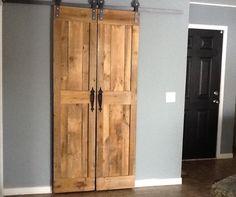 Sliding barn doors for my pantry.