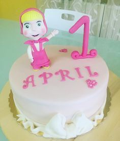 Masha cake fondant - happy birthday baby girl