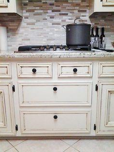 Antique White Kitchen Makeover