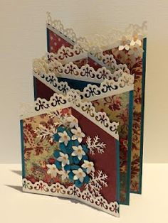 Check out the tutorial for making this slightly smaller version of the cascading card - using 6X8 paper instead of 5.5X12