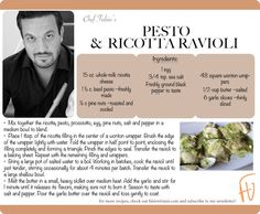Pesto & Ricotta Ravioli #PastaByFabio
