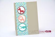 Stampin Up Baby Geburt Zoo Babies DSP Birthday Basics Geburtstagsbasics Stanze Kreis Das schönste Geschenk Sweetest Gift_