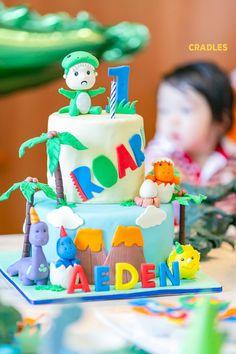 cake_235 - Dinosaur Eggs, Dinosaur Cake, Birthday Bash, Birthday Celebration, Happy Birthday, Cool Dinosaurs, Dino Cake, Party Themes, Party Ideas