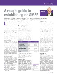 A rough guide to establishing a SMSF. Quantum Financial provides award winning Self Managed Super Fund advice