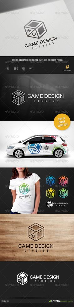 Game Design Logo — Vector EPS #cube #plus • Available here → https://graphicriver.net/item/game-design-logo/8736591?ref=pxcr