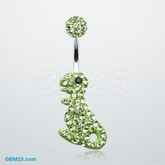 Dinosaur Tiffany Dangle Belly Button Ring