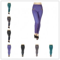 wholesale 12 pieces women 4 pockets slimming jeggings style 4 assorted colors