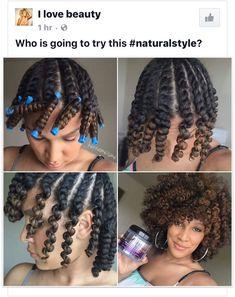 Beautiful twist out style.