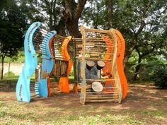 Agoro! is a Playtime in Africa multi-purpose play structure with multiple elements for sound, art, imagination, theater. Created in collaboration with Design Inspire Play.