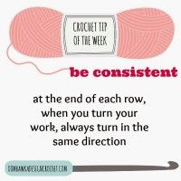 Crochet Tip of the Week – Be Consistent