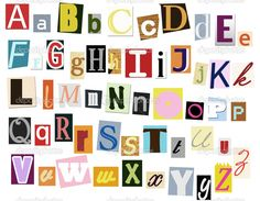 Magazine Letters Newspaper Magazine Alphabet Font - Commercial Use ...