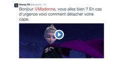 Quand Disney et la Reine des neiges donnent un petit conseil à Madonna après sa chute