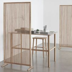 Hubsch Interior - Folding screen, room divider made of oak - - - Furniture, House Design, Home Office Decor, Interior, Divider Design, Interior Furniture, Home Decor, Furniture Inspiration, Interior Design