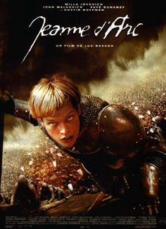 The French titled version of The Joan of Arc story with Milla Jovovich, Jeanne d' Arc. Saint Joan Of Arc, St Joan, Jeanne D'arc, Great Movies, New Movies, Movies And Tv Shows, John Malkovich, Faye Dunaway, Milla Jovovich