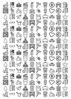 Lorelei Lee's Plan-Bar: Sticker - Take 3 - Icon stickers for your planner - Erin Condren, Filofax, Happy Planner, Inkwell Press, Plumpaper, Kikki K, ...