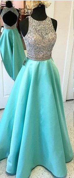 long prom dresses - Modest Aqua Evening Dresses With Sheer Neckline Jewel A Line Satin See Through Hollow Back Designer Sequin Beading Prom Dresses Long Cheap Pageant Formal Gowns Open Back Prom Dresses, A Line Prom Dresses, Prom Party Dresses, Modest Dresses, Dance Dresses, Pretty Dresses, Evening Dresses, Formal Dresses, Dress Prom