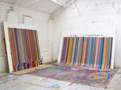 Beautiful Poured Paintings by Artist Ian Davenport - BOOOOOOOM! - CREATE * INSPIRE * COMMUNITY * ART * DESIGN * MUSIC * FILM * PHOTO * PROJECTS