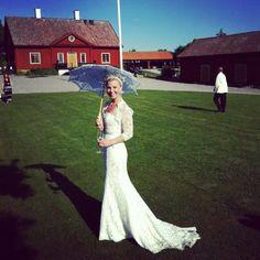 My lovley weddingdress! #vintage #weddingdress #spets