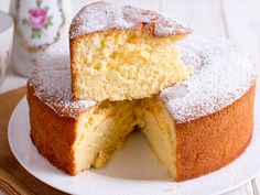 Almond Cardamom Sponge Cake – Sweets – The Ghee Spot Almond Cardamom Sponge Cake<br> Need a fabulous dessert recipe? Try Almond cardamom sponge cake. It's light, fluffy, airy, incredibly well flavored, and scrumptious enough to devour whole. Tea Cakes, Food Cakes, Basic Yellow Cake Recipe, Cakes Without Butter, Key Food, Cake Day, Sponge Cake Recipes, Cake Recipes From Scratch, Take The Cake