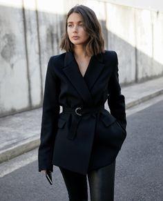Georgia Alice black blazer | cropped leather pants | style | outfit | HarperandHarley