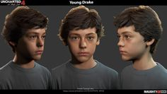Uncharted 4 character - young Drake I am very honored to be the lead character artist on Uncharted 4 - A Thief's End. This is one of the main character i did. I did the head and hand sculpting, head in this case started from a scan file, hair started from a outsource hair and i did a lot of tweaks to finalize it. Clothing are from different scans and sculpt/tweak the wrinkles after. Yibing Jiang helped with the shaders and specially thanks to Sony SD working with me on the blend shapes and…