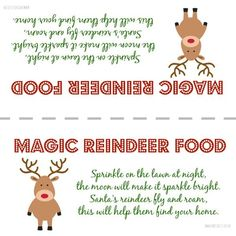 Santas magic reindeer food with free printable bag topper poem get ready for christmas eve with this magic reindeer food printable forumfinder Gallery