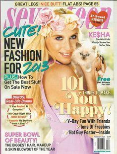 Seventeen magazine Kesha Cute fashion Real life drama 101 fun things Beauty tips
